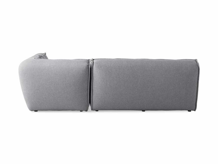 """Porto Outdoor Upholstered 99"""" Three Piece L Sectional in Southend Grey, slide 4 of 7"""