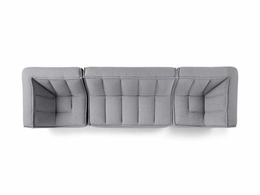 "Porto Outdoor Upholstered 138"" Three Piece Sectional in Southend Grey, slide 5 of 7"