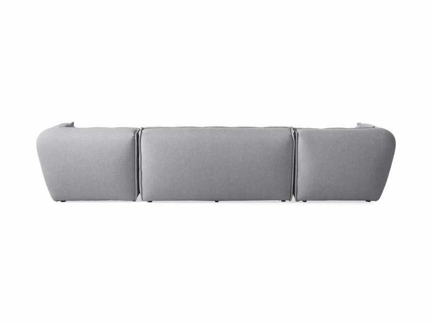 "Porto Outdoor Upholstered 138"" Three Piece Sectional in Southend Grey, slide 4 of 7"
