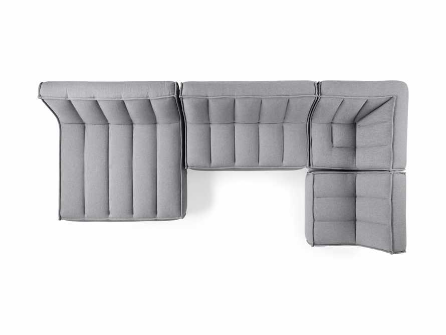 "Porto Outdoor Upholstered 159""  Four Piece Double Chaise Sectional in Southend Grey, slide 5 of 7"