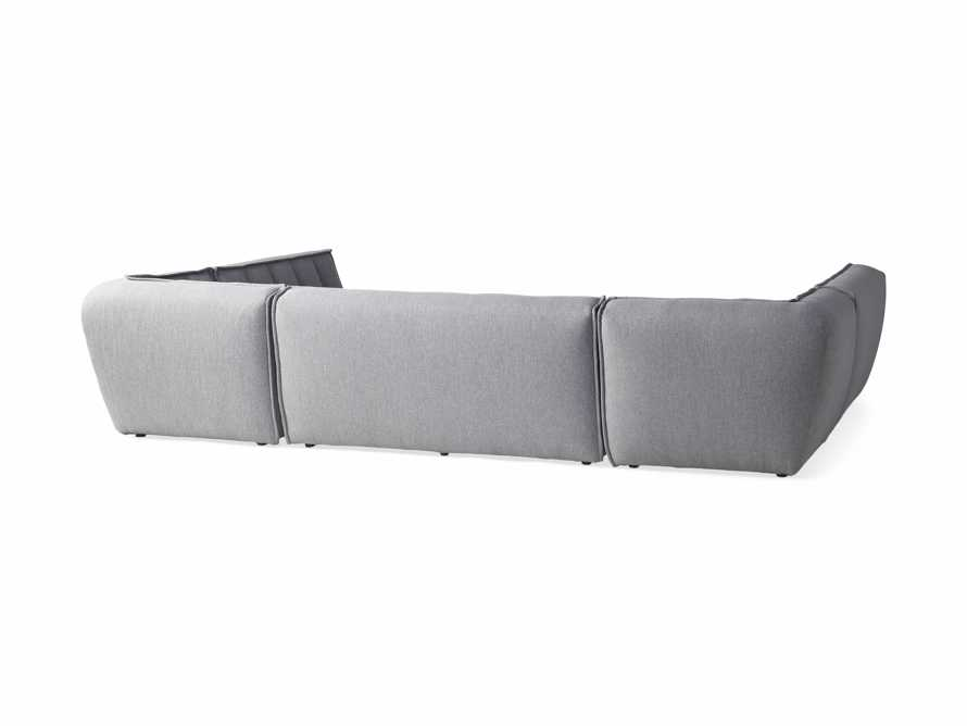 """Porto Outdoor Upholstered 138"""" Five Piece Sectional in Southend Grey, slide 4 of 6"""