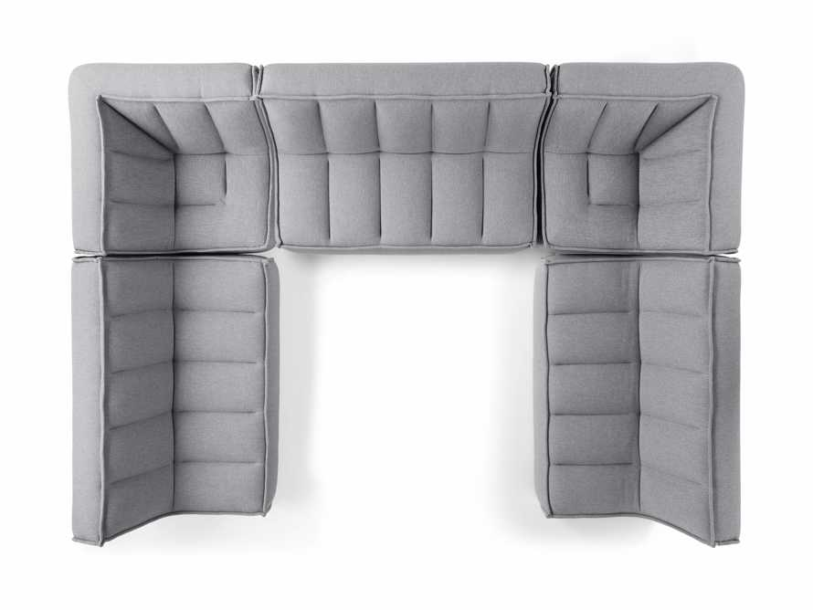 """Porto Outdoor Upholstered 138"""" Five Piece Sectional in Southend Grey, slide 5 of 6"""