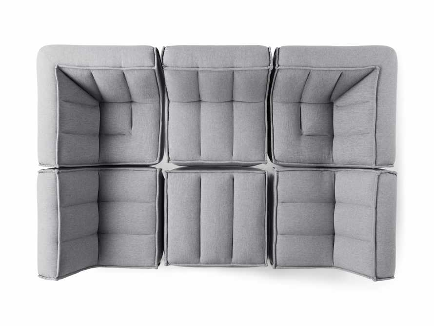 """Porto Outdoor Upholstered 114"""" Six Piece Sectional in Southend Grey, slide 4 of 6"""