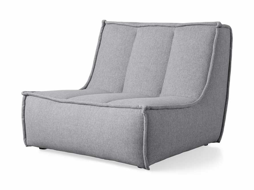 "Porto Outdoor Upholstered 36"" Armless Chair in Southend Grey, slide 3 of 6"