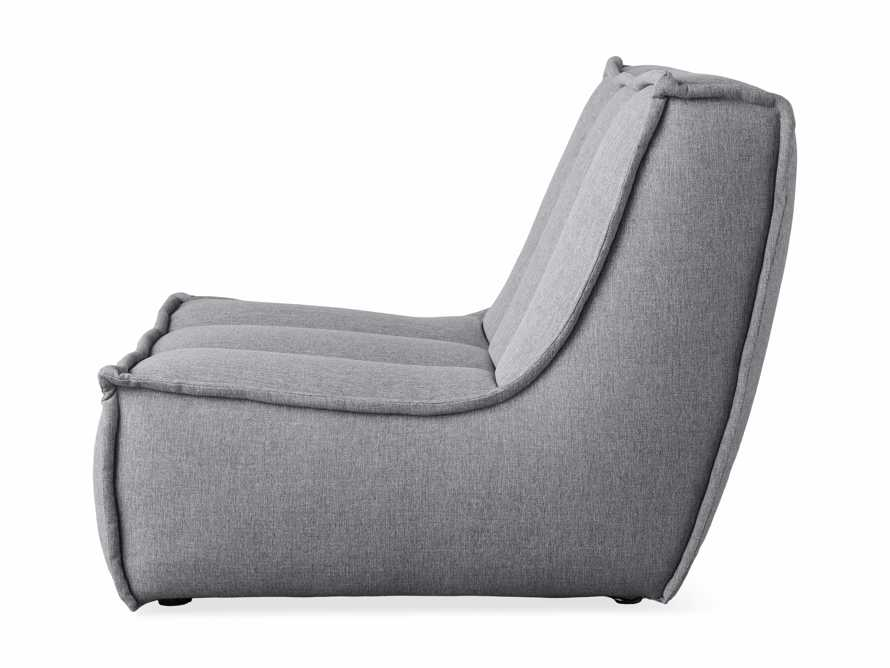 "Porto Outdoor Upholstered 36"" Armless Chair in Southend Grey, slide 4 of 6"