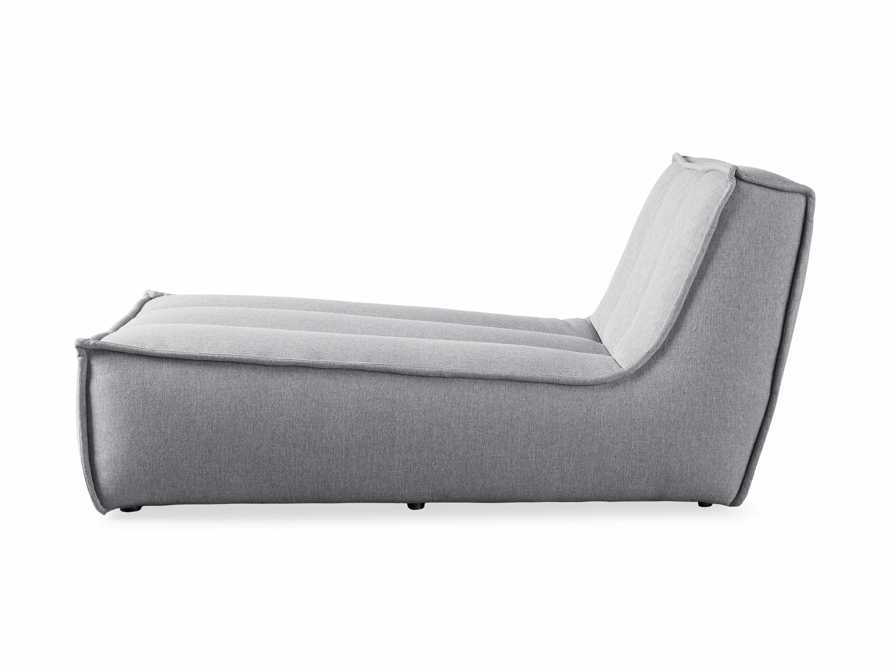 """Porto Outdoor Upholstered 36"""" Chaise in Southend Grey, slide 4 of 7"""