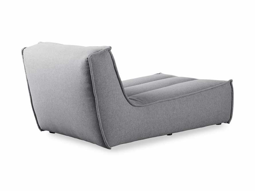 """Porto Outdoor Upholstered 36"""" Chaise in Southend Grey, slide 5 of 7"""