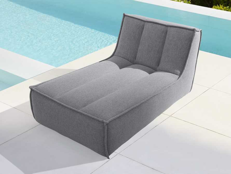 """Porto Outdoor Upholstered 36"""" Chaise in Southend Grey, slide 2 of 7"""