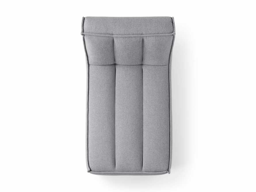 """Porto Outdoor Upholstered 36"""" Chaise in Southend Grey, slide 6 of 7"""