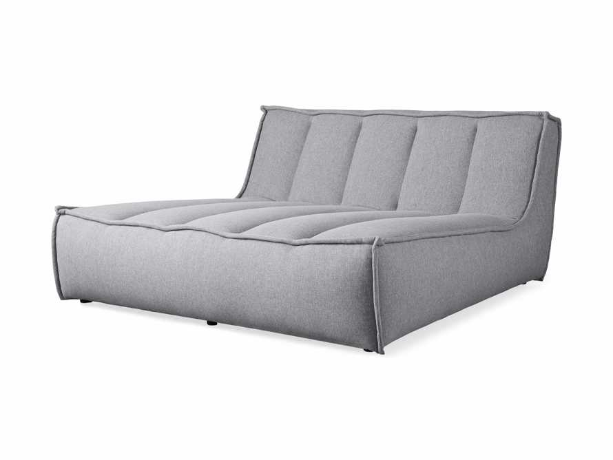 """Porto Outdoor Upholstered 60"""" Double Chaise in Southend Grey, slide 3 of 7"""