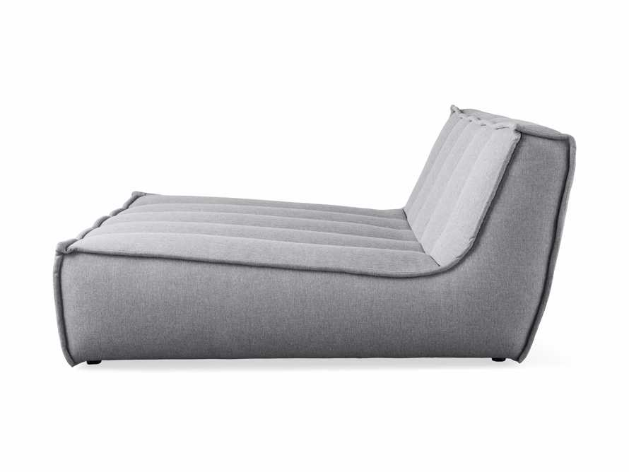 """Porto Outdoor Upholstered 60"""" Double Chaise in Southend Grey, slide 4 of 7"""