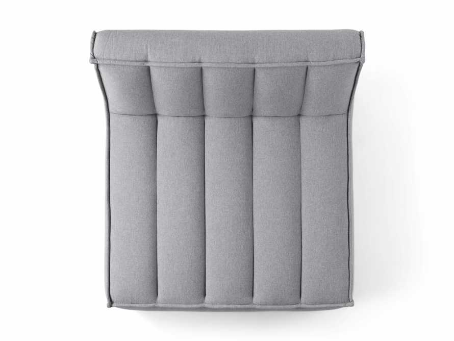 """Porto Outdoor Upholstered 60"""" Double Chaise in Southend Grey, slide 6 of 7"""
