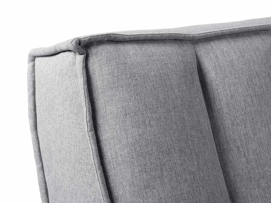 "Porto Outdoor Upholstered 60"" Armless Sofa in Southend Grey, slide 7 of 7"