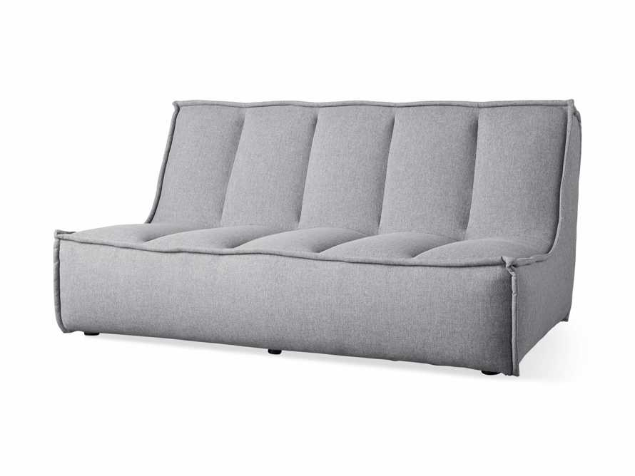 "Porto Outdoor Upholstered 60"" Armless Sofa in Southend Grey, slide 3 of 7"
