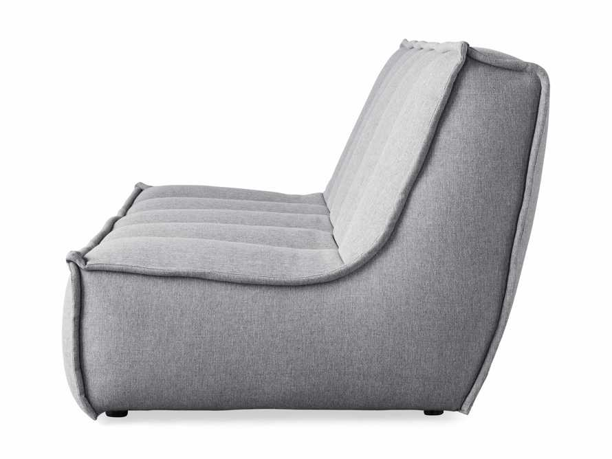 "Porto Outdoor Upholstered 60"" Armless Sofa in Southend Grey, slide 4 of 7"
