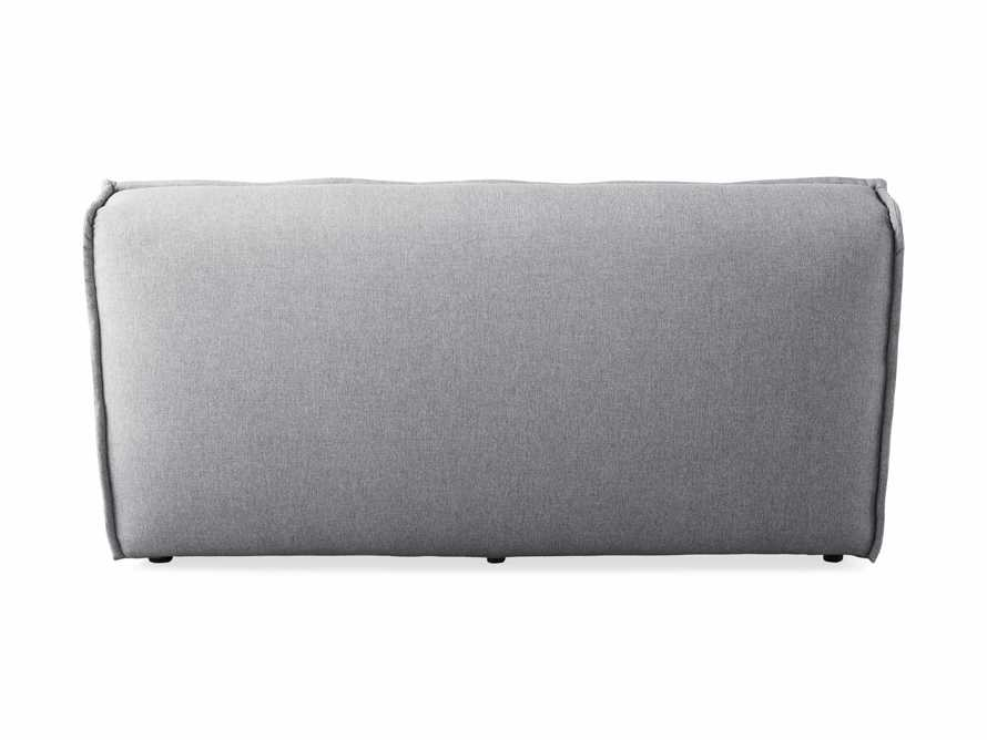 "Porto Outdoor Upholstered 60"" Armless Sofa in Southend Grey, slide 5 of 7"