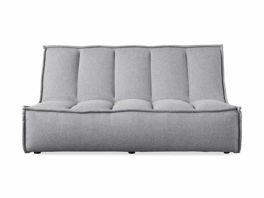 "Porto Outdoor Upholstered 60"" Armless Sofa in Southend Grey, slide 2 of 7"