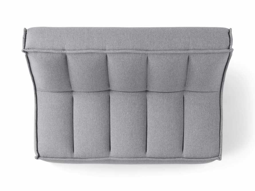 "Porto Outdoor Upholstered 60"" Armless Sofa in Southend Grey, slide 6 of 7"