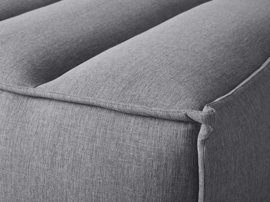 """Porto Outdoor Upholstered 34"""" Ottoman in Southend Grey, slide 6 of 6"""