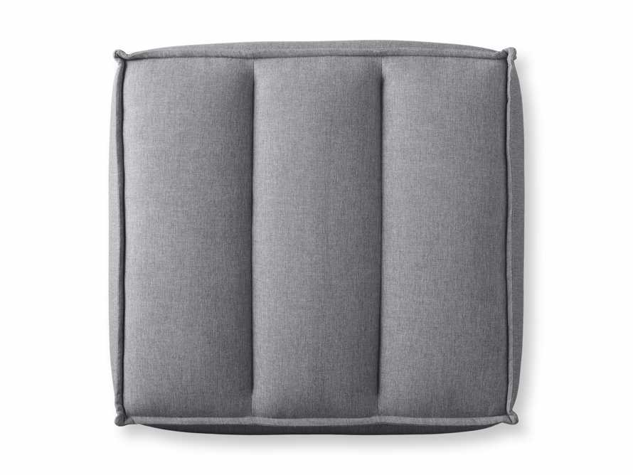 """Porto Outdoor Upholstered 34"""" Ottoman in Southend Grey, slide 5 of 6"""