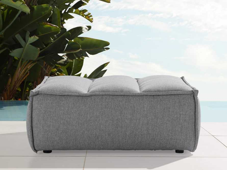 """Porto Outdoor Upholstered 34"""" Ottoman in Southend Grey, slide 1 of 6"""