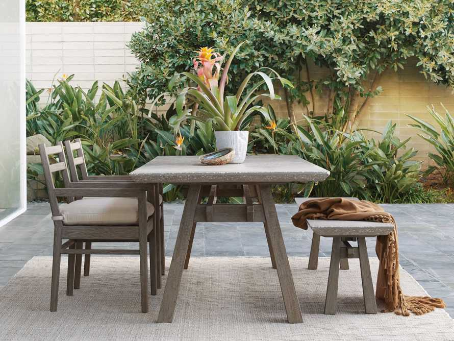 """Rumi Outdoor 78"""" Rectangle Dining Table, slide 6 of 6"""