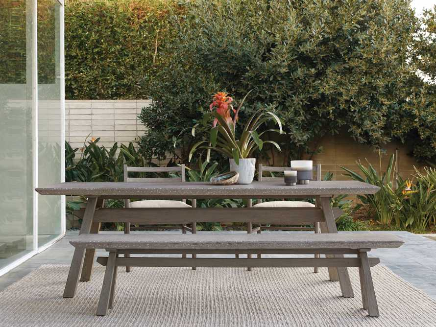 """Rumi Outdoor 78"""" Rectangle Dining Table, slide 1 of 6"""