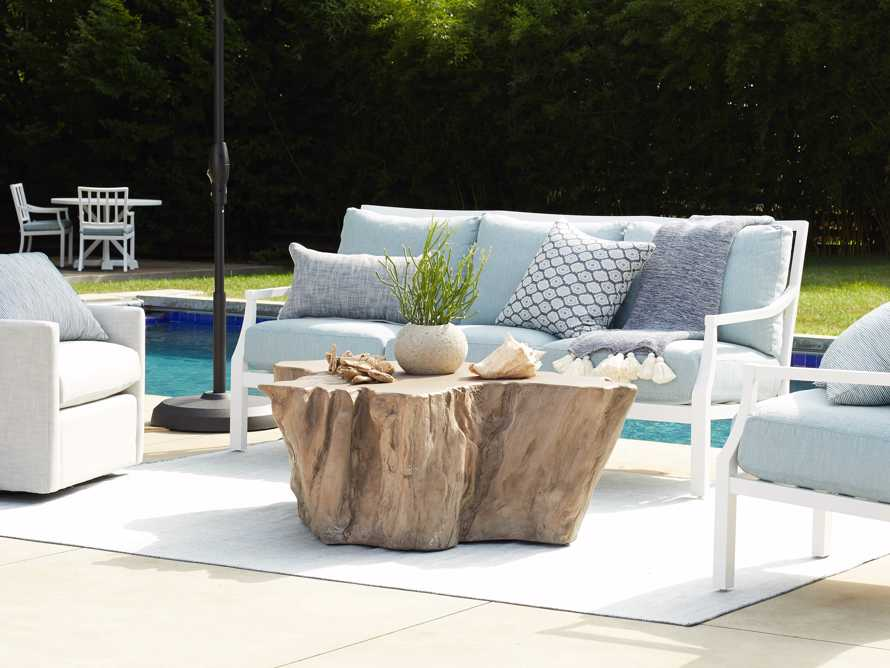 """Root Outdoor 52.5"""" Bleached Coffee Table, slide 3 of 7"""