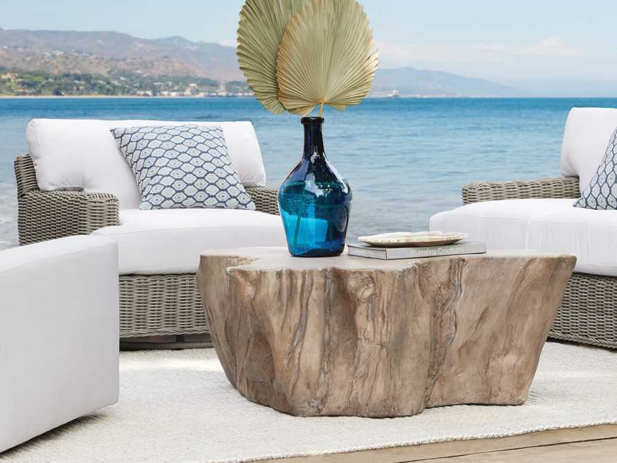 """Root Outdoor 52.5"""" Bleached Coffee Table, slide 2 of 7"""