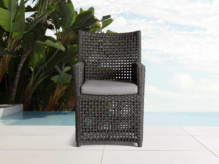 "Schoonover Outdoor 24"" Dining Arm Chair in Slate, slide 1 of 4"