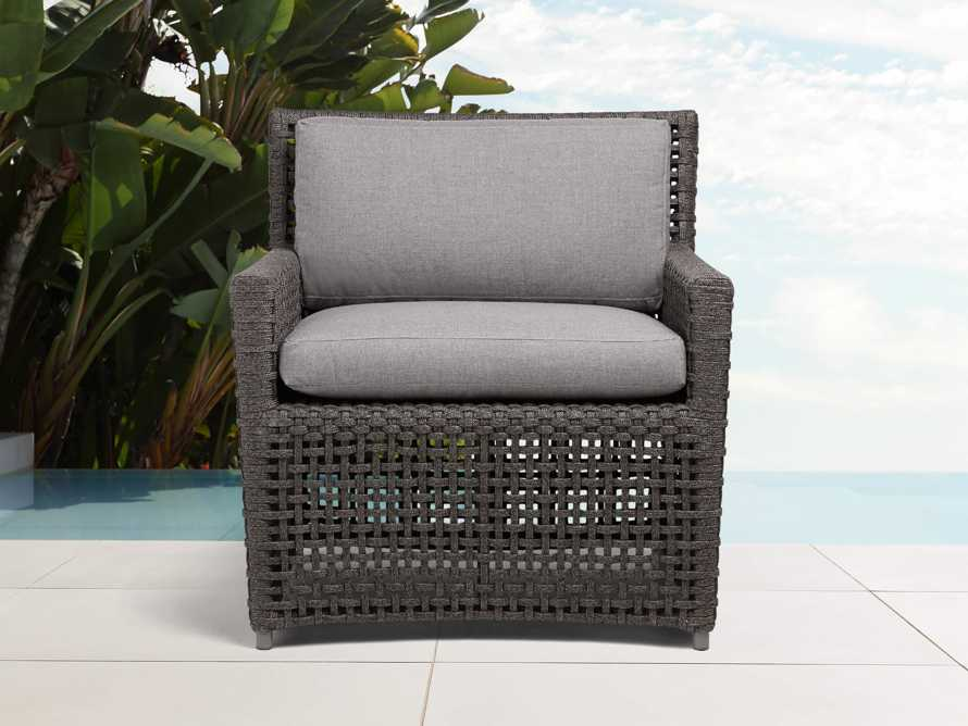 "Schoonover Outdoor 31"" Lounge Chair in Grey, slide 1 of 9"