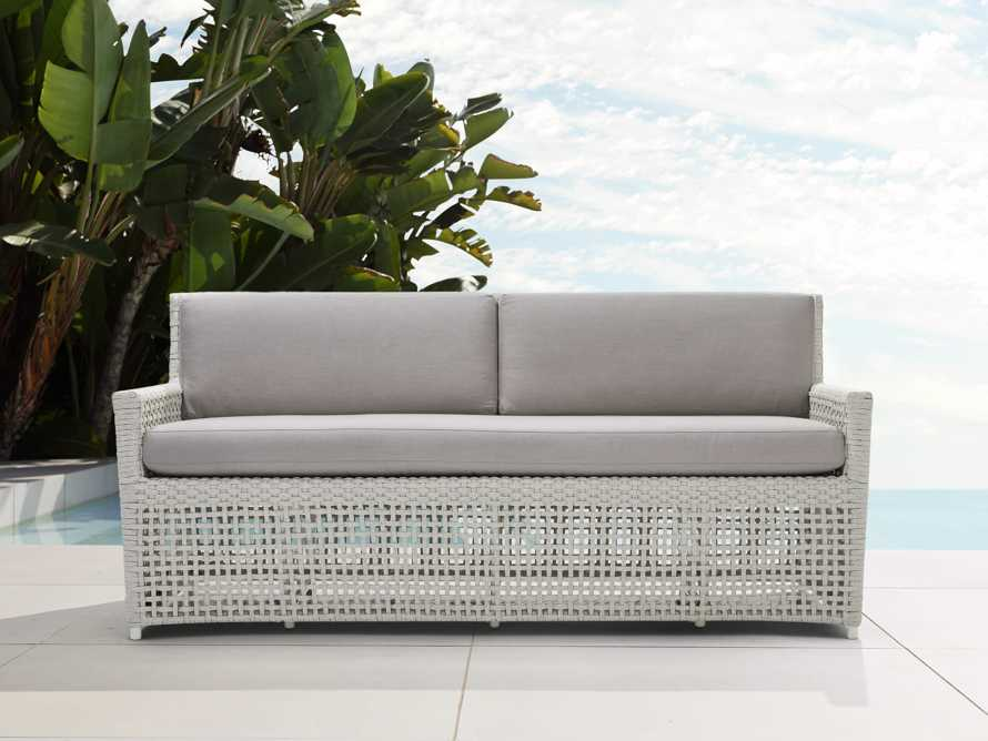 "Schoonover Outdoor 70"" Sofa in White"