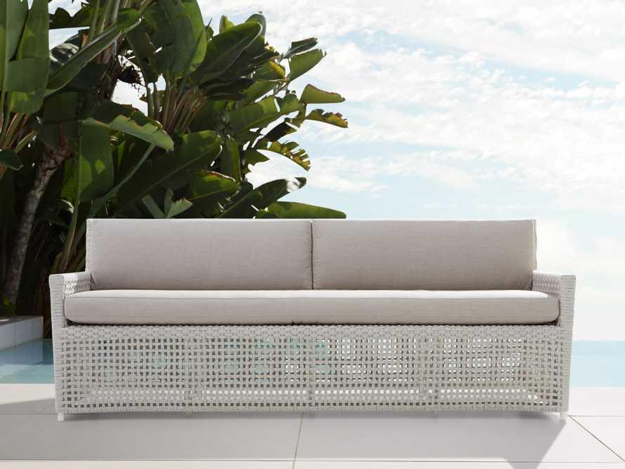 "Schoonover Outdoor 83"" Sofa in White, slide 1 of 5"