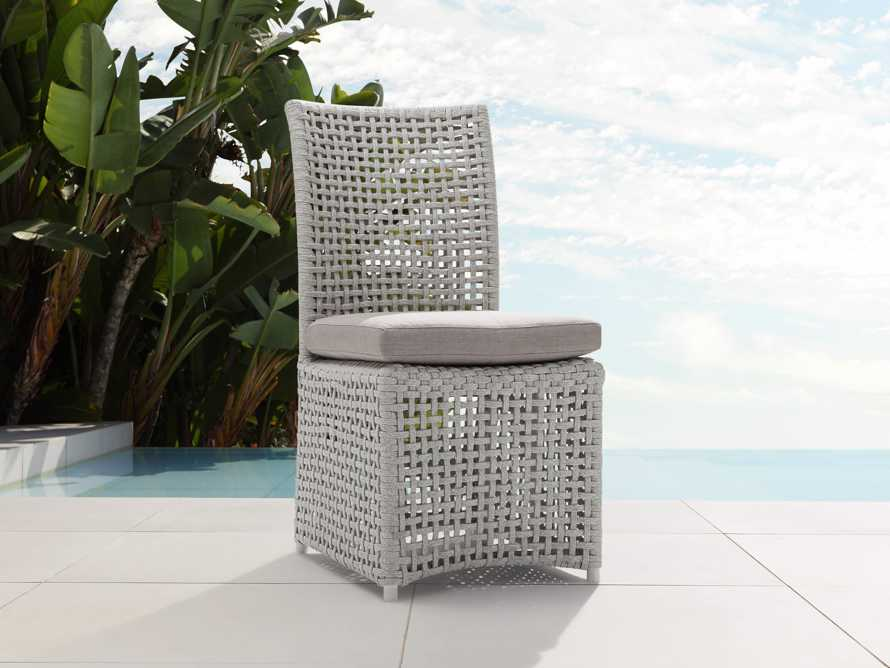 Schoonover Outdoor Dining Side Chair in White, slide 1 of 5