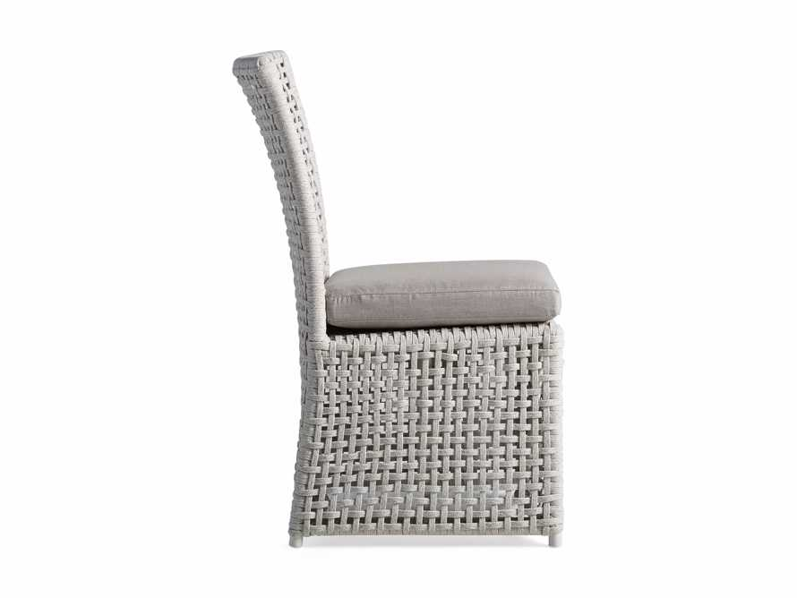 Schoonover Outdoor Dining Side Chair in White, slide 3 of 5