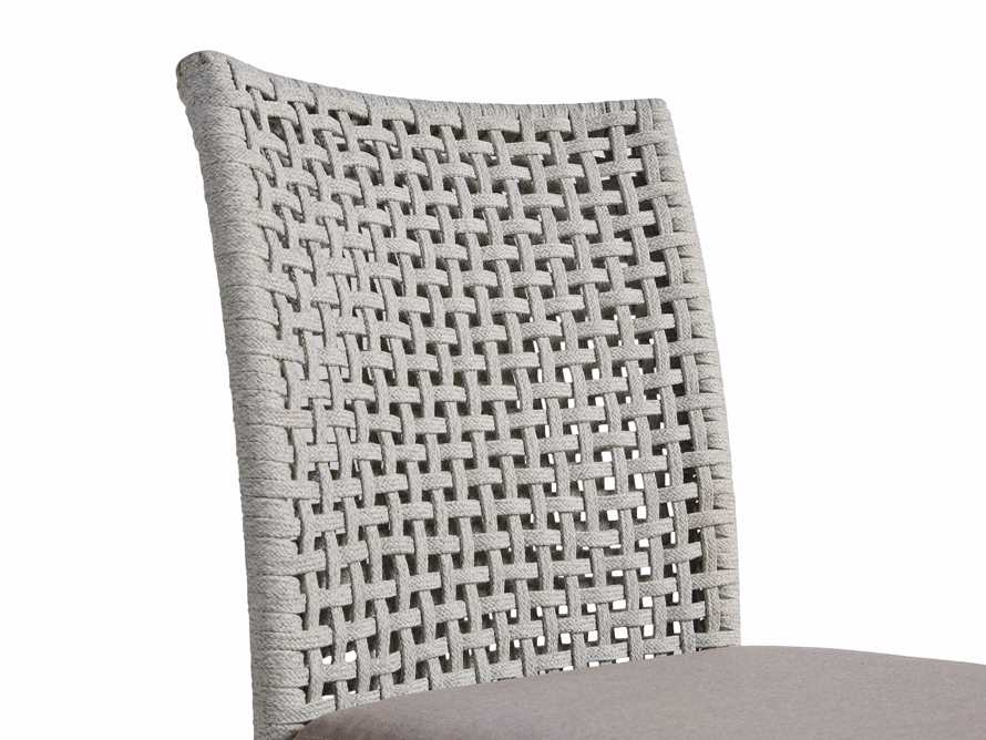 Schoonover Outdoor Dining Side Chair in White, slide 5 of 5