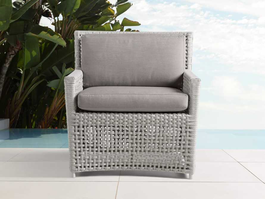 """Schoonover Outdoor 31"""" Lounge Chair in White, slide 1 of 6"""