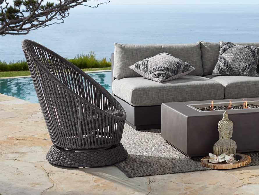 "Sevilla Outdoor 31.5"" Swivel Chair in Cove Grey, slide 5 of 6"