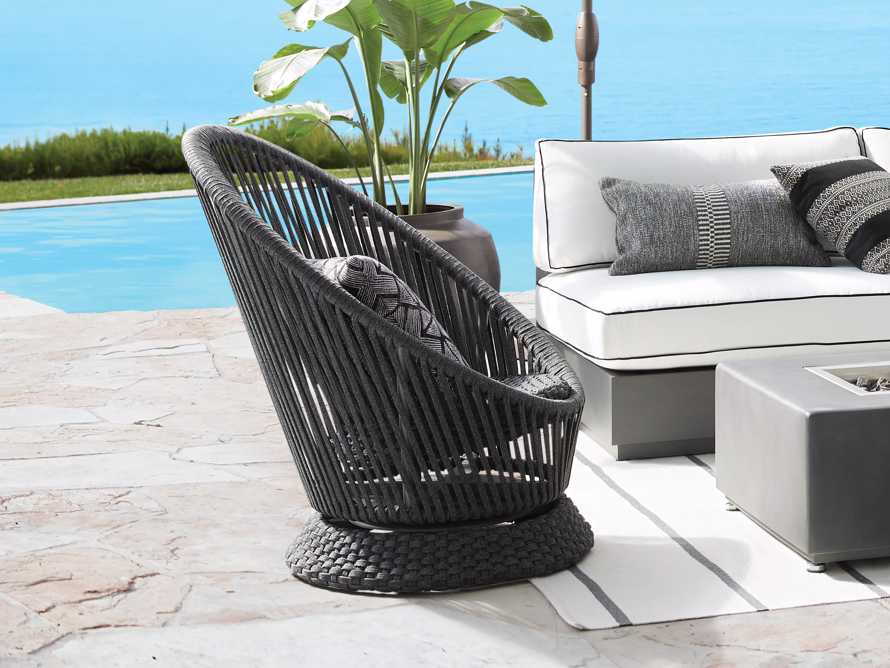 "Sevilla Outdoor 31.5"" Swivel Chair in Cove Grey, slide 6 of 6"