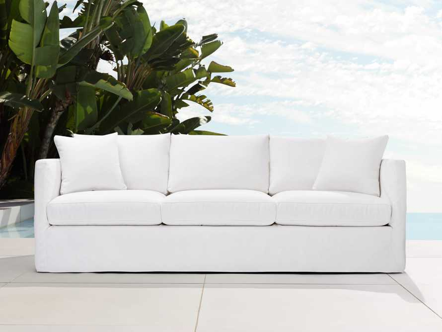 "Spinnaker Outdoor Slipcovered 94"" Sofa in Sail Salt, slide 1 of 4"