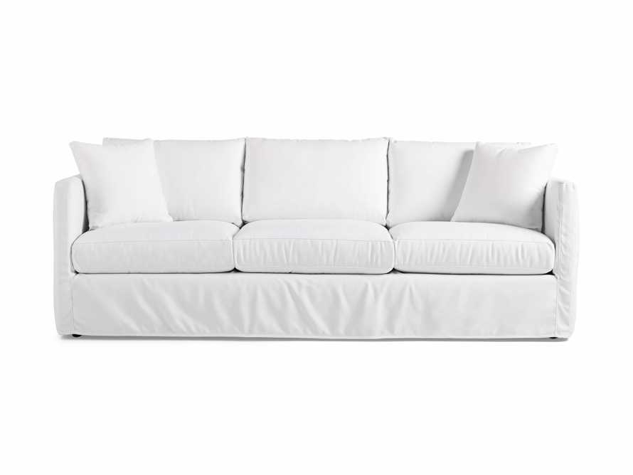 "Spinnaker Outdoor Slipcovered 94"" Sofa in Sail Salt, slide 2 of 4"