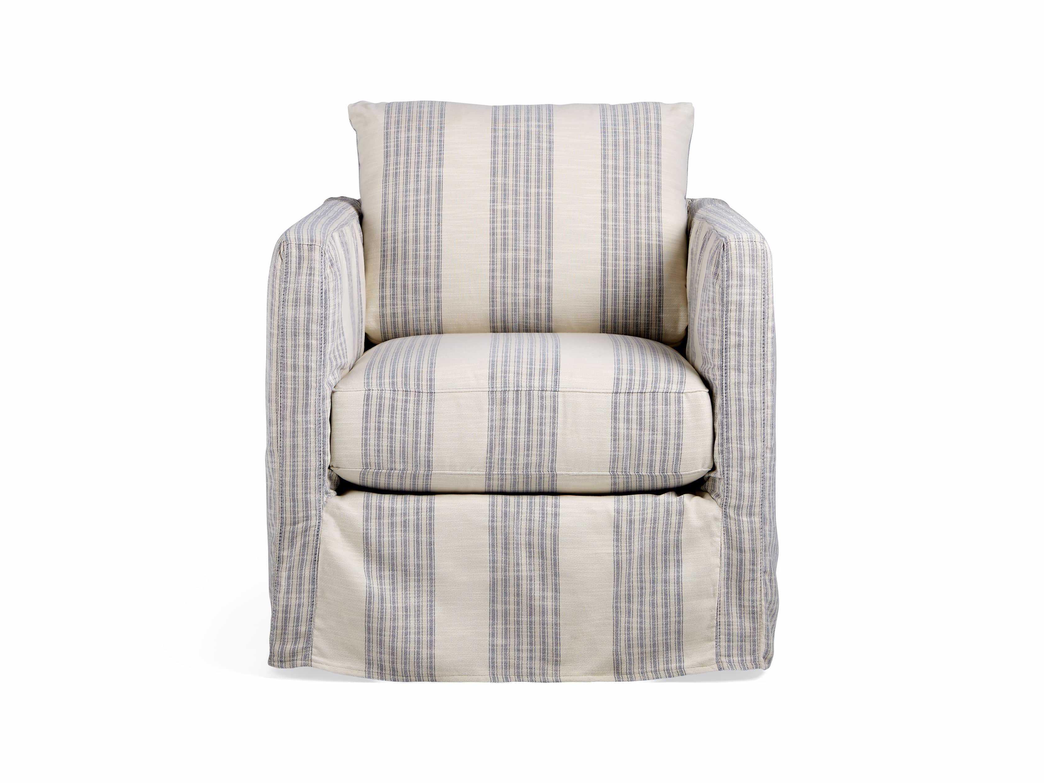 Spinnaker Outdoor Slipcovered Swivel Chair