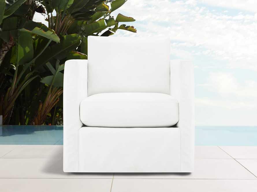 """Spinnaker Outdoor Slipcovered 32"""" Swivel Chair, slide 1 of 2"""