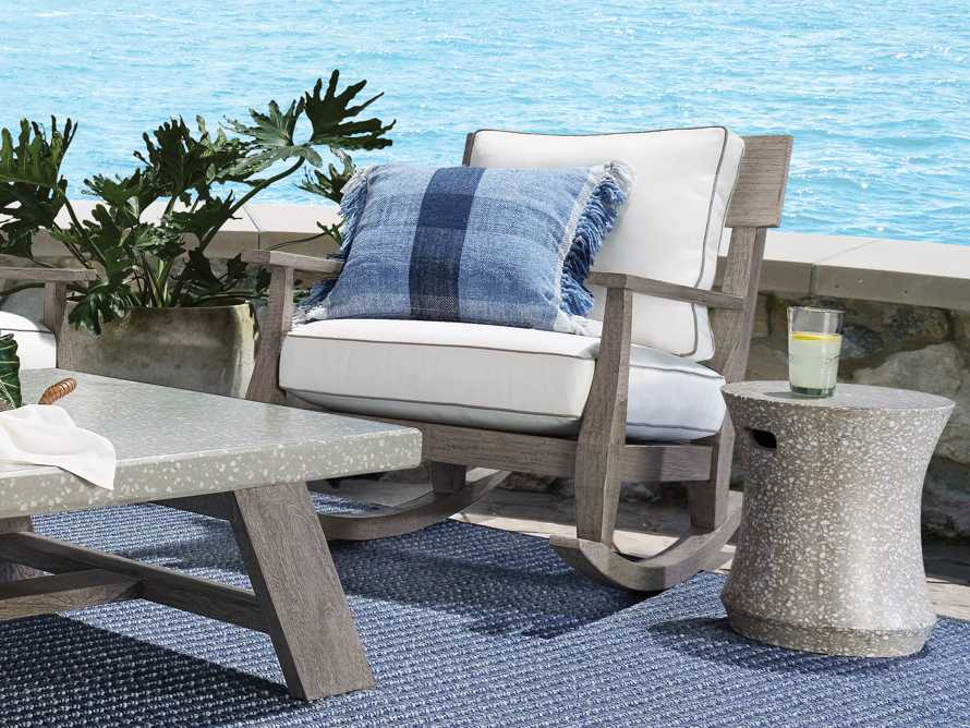 """Terrazzo Stool Outdoor 14.5"""" Stone End Table in Grey/white Terrazzo, slide 7 of 7"""
