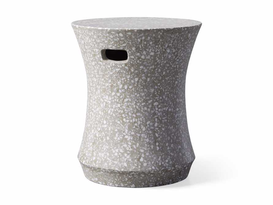 """Terrazzo Stool Outdoor 14.5"""" Stone End Table in Grey/white Terrazzo, slide 4 of 7"""