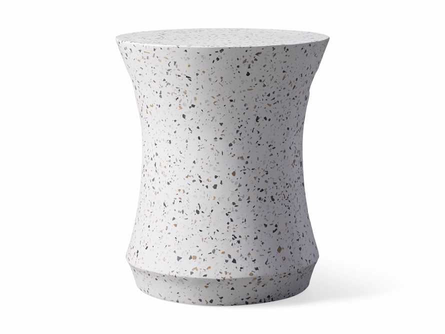 "Terrazzo Stool Outdoor 14.5"" Stone End Table in Rocky Beach Terrazzo, slide 2 of 5"
