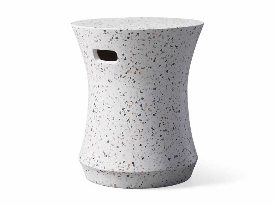 "Terrazzo Stool Outdoor 14.5"" Stone End Table in Rocky Beach Terrazzo, slide 3 of 5"