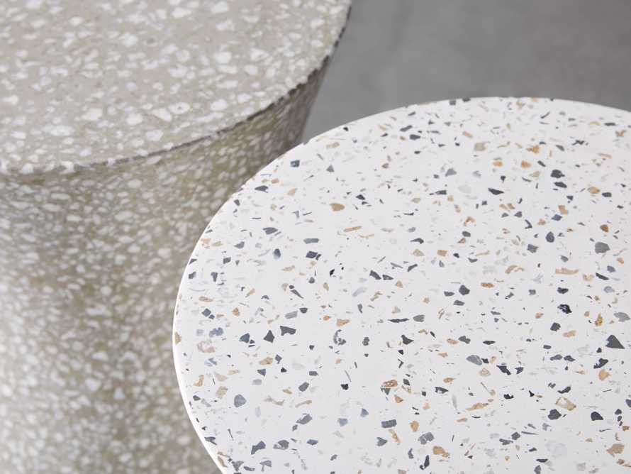 "Terrazzo Stool Outdoor 14.5"" Stone End Table in Rocky Beach Terrazzo, slide 4 of 5"