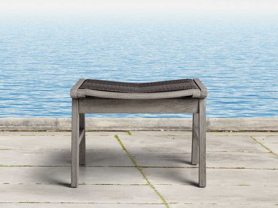 """Tulum 24"""" Dining Stool in Driftwood Grey/Charcoal, slide 1 of 6"""