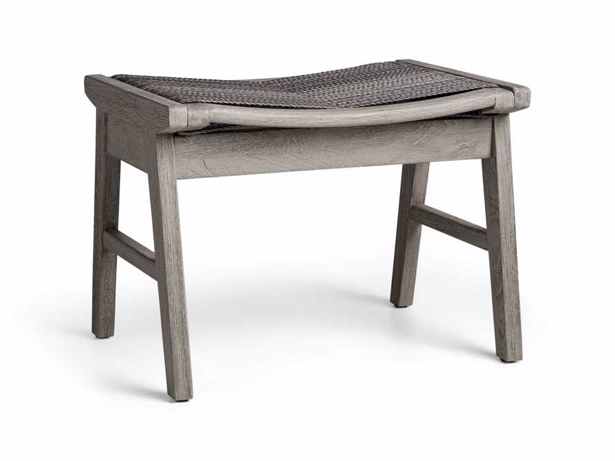 """Tulum 24"""" Dining Stool in Driftwood Grey/Charcoal, slide 3 of 6"""